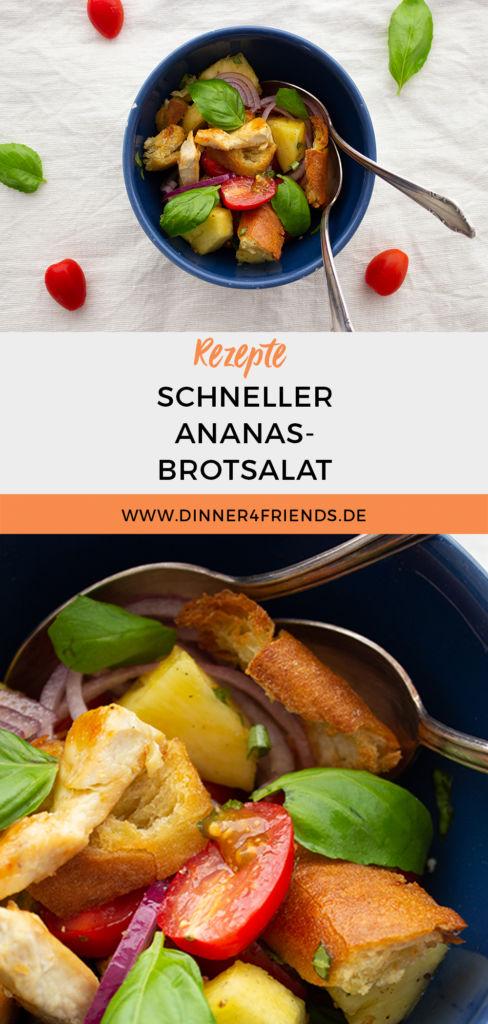 Sommerlicher Ananas-Brotsalat