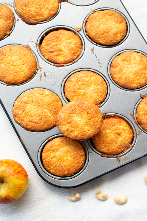 Apfel-Marzipan-Muffins