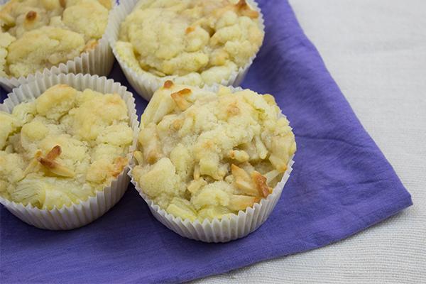 Die Apfel Muffins mit leckerem Crumble oben drauf sind lauwarm serviert einfach der Hammer!