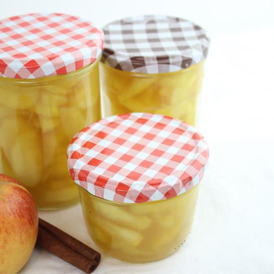 Selbst gemachtes Apfelkompott
