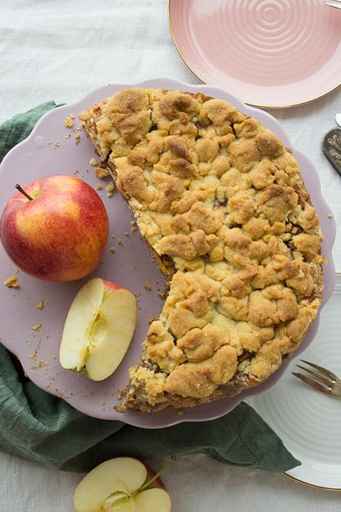 Apfelstreuselkuchen, der nach Bratapfel schmeckt - ein Traum!