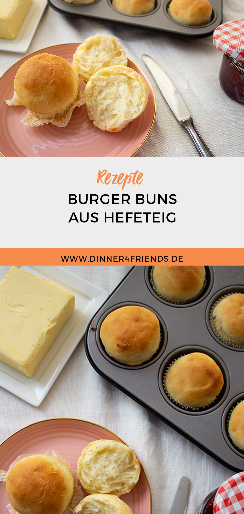 Burger Buns aus Hefeteig