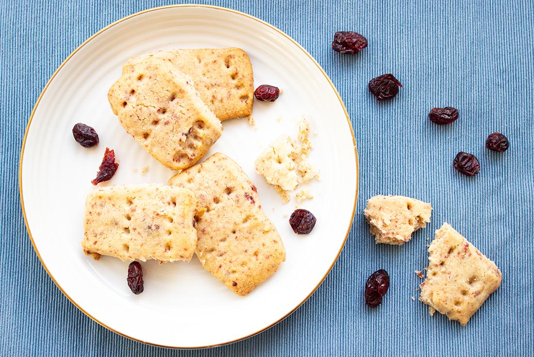 Zufällig vegan: Cranberry-Shortbread