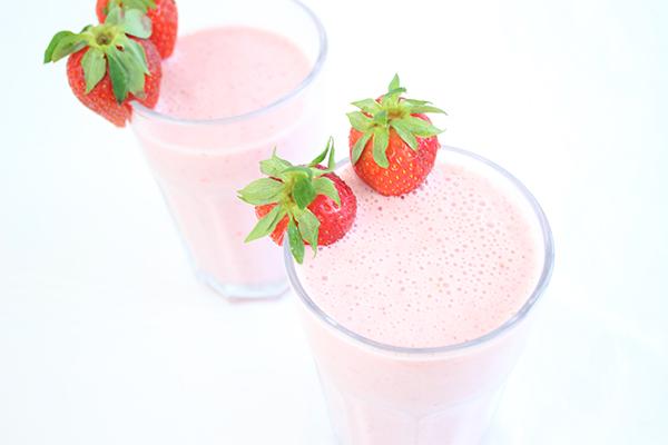 Erdbeer Smoothie oder: Erdbeeren satt