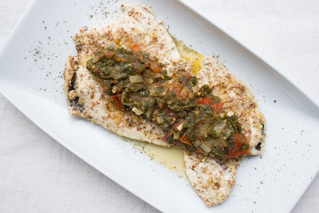 Fisch in Mandelkruste