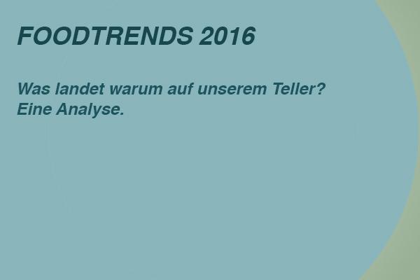 Food Trends 2016