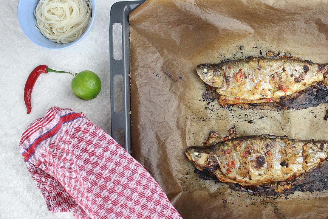 Forelle Thai Style: schneller geht Abendessen kaum