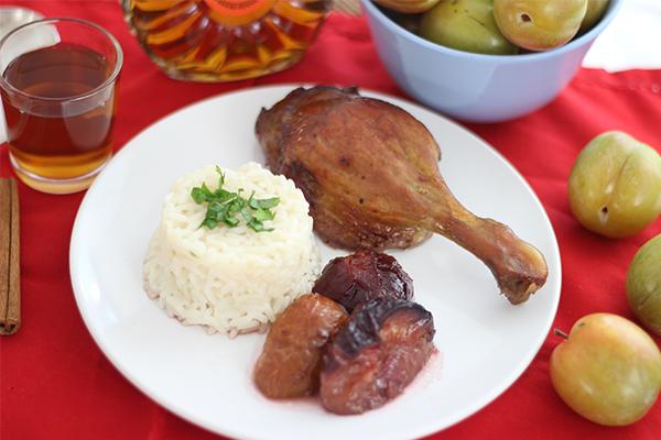 Geschmorte Ente mit Pflaumen nach Jamie Oliver
