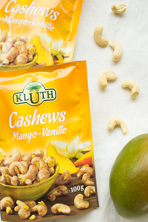 Gesünder Snacken mit Cashews Mango-Vanille von Kluth.