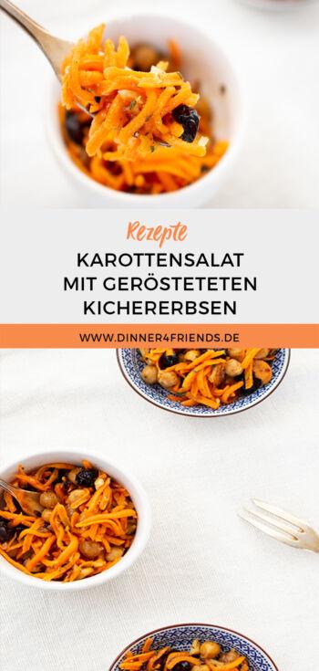 Orientalischer Karottensalat mit gerösteten Auberginen (vegan)