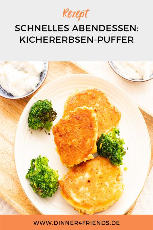 Schnelle Feierabendküche: Kichererbsenpuffer