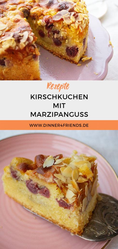 Kirschkuchen mit Marzipanguss