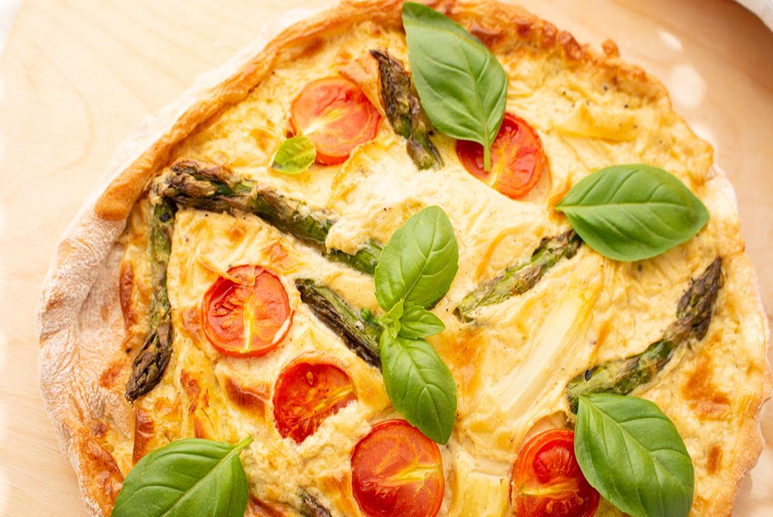 Spargelpizza nach Johann Lafer aus dem Airfryer