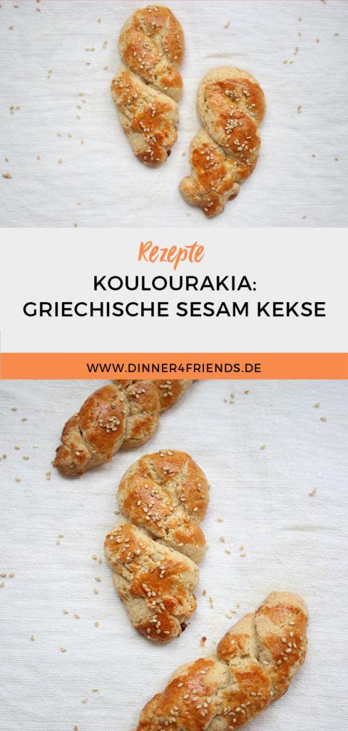 Koulourakia: griechische Sesam-Kekse