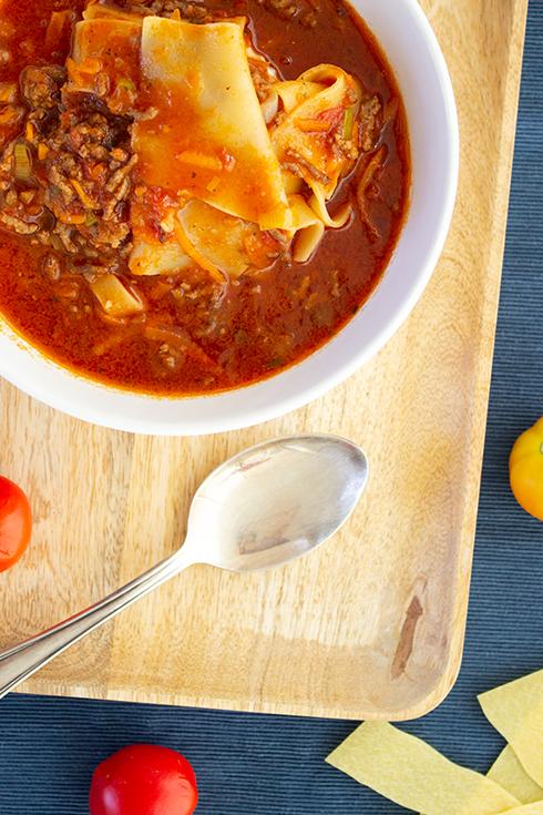 Schnelles, selbst gekochtes Essen: Lasagnesuppe