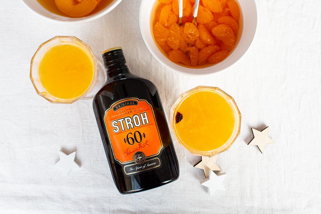 Pfirsich-Punsch oder Bowle mit Rum