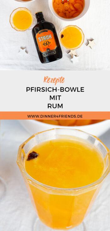 Pfirsich-Bowle mit Rum