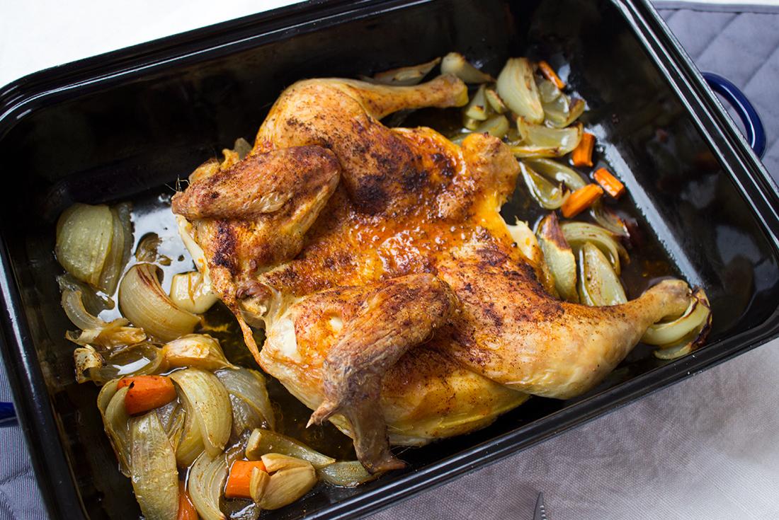Plattes Huhn nach Johann Lafer: knusprig und saftig