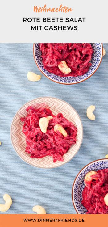 Rote Beete Salat mit Joghurt und Cashews