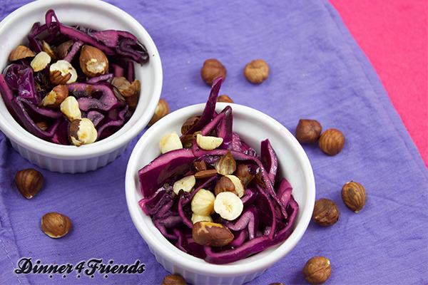 Ein Power-Salat im Winter? Rotkohl-Salat mit Granatapfel! So guuuut!