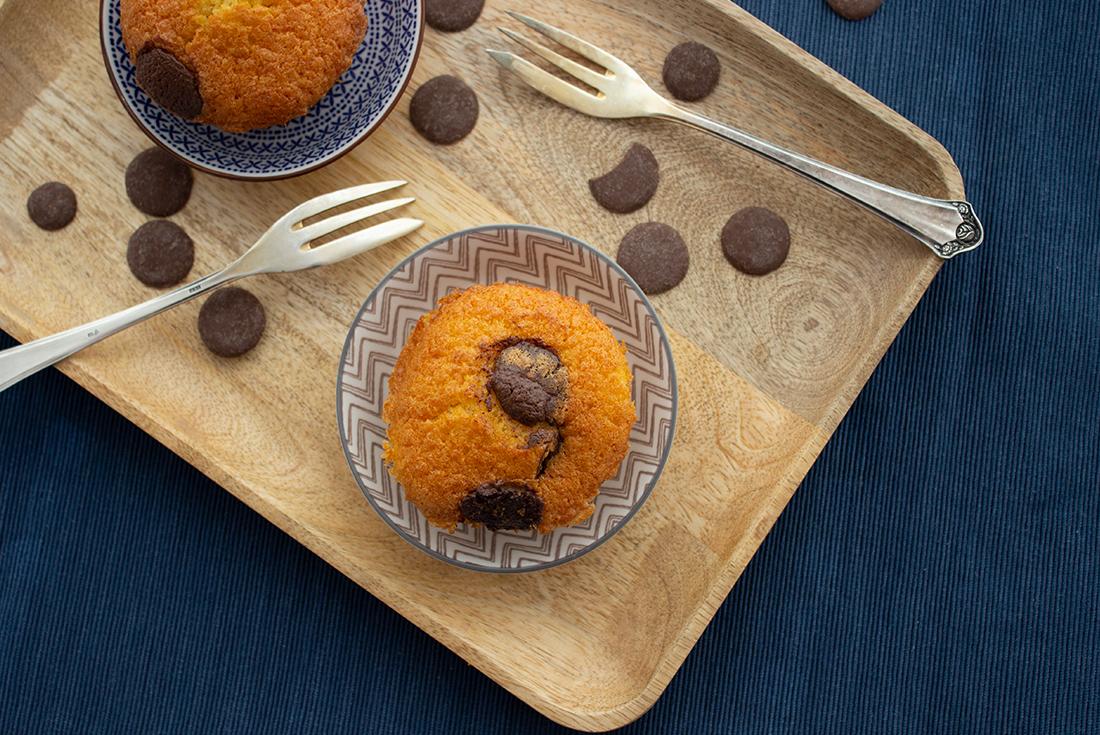 Saftige Muffins mit Schokolade