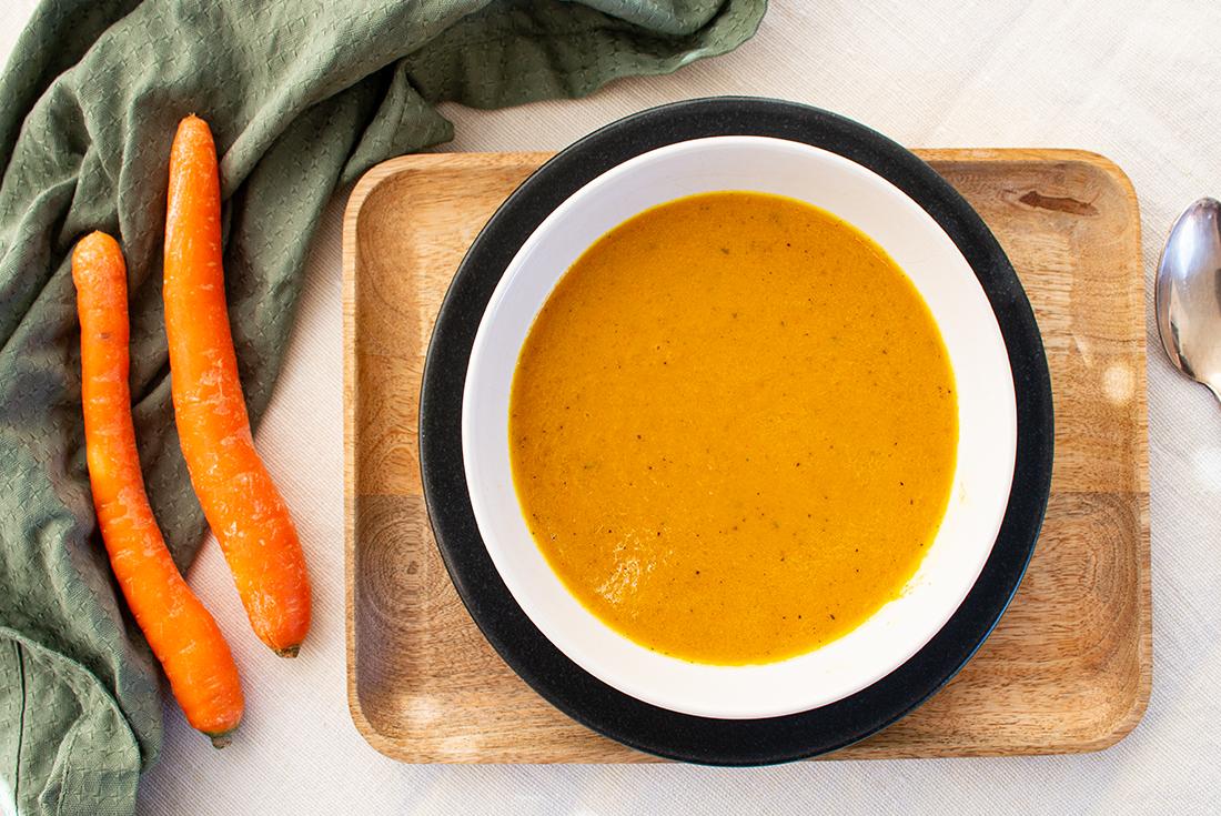 Schnelles Essen: Karotten-Kurkuma-Suppe