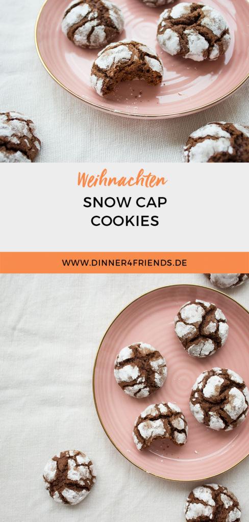 Weihnachtsplätzchen: Snowcap Cookies
