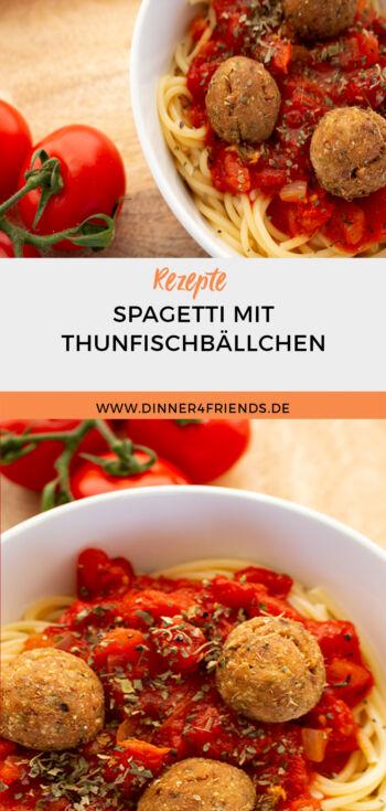 Spagetti mit Thunfischbällchen