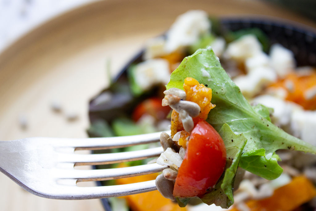Süßkartoffelsalat: perfekt für den Feierabend