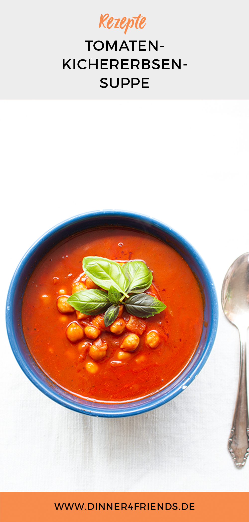 Tomaten-Kichererbsensuppe