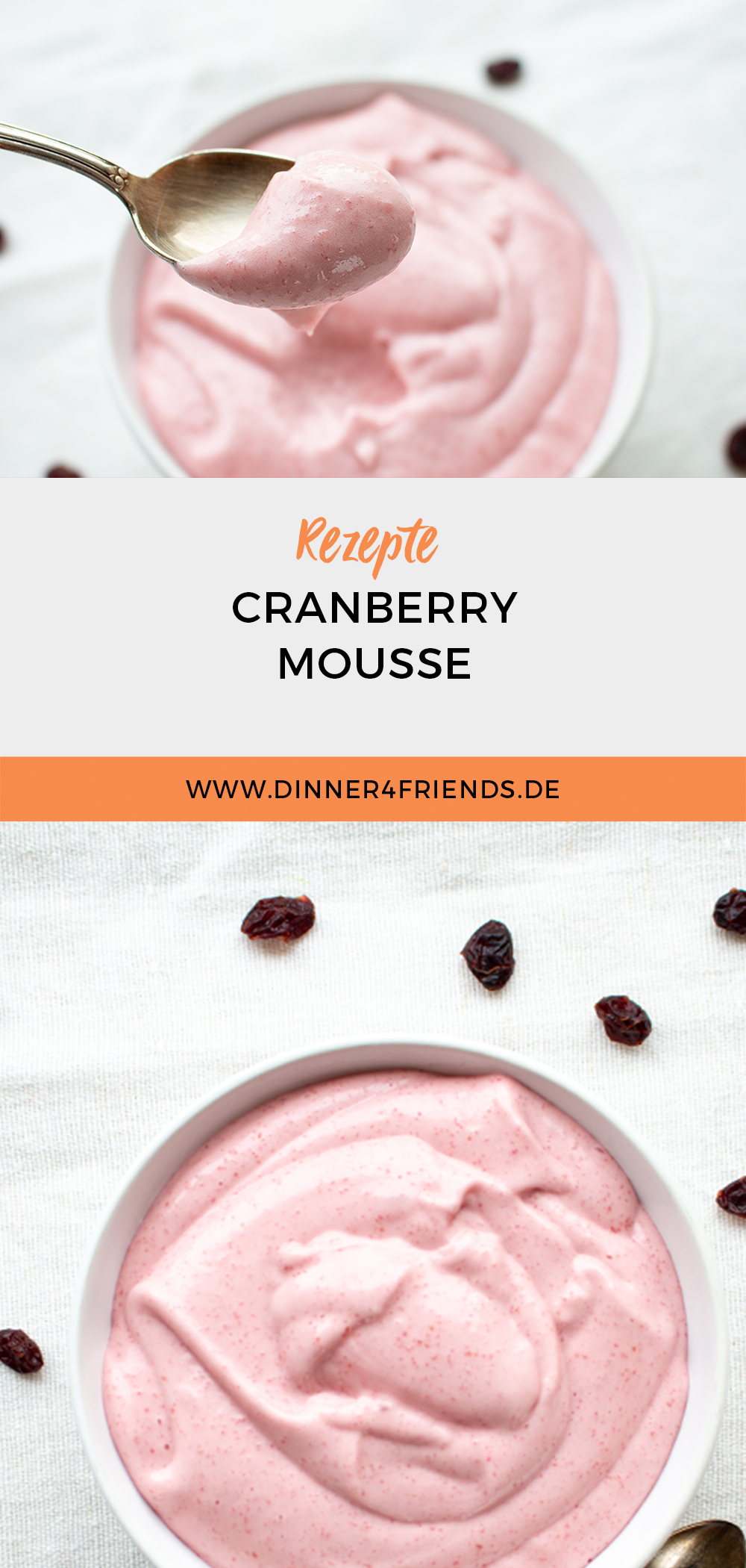 Vegane Cranberry Mousse