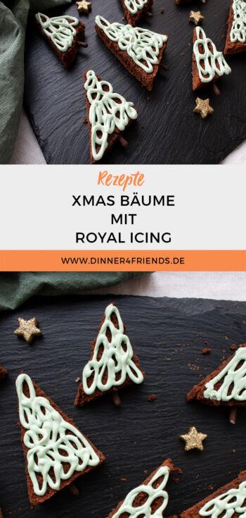 Xmas Bäume aus Brownies und Royal Icing