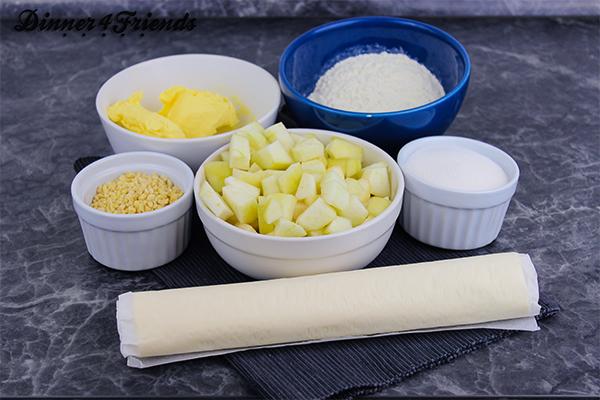 Birnen-Crumble-Muffins: Wenn es schnell gehen muss, dann auch gerne mit Blätterteig aus dem Kühlregal.