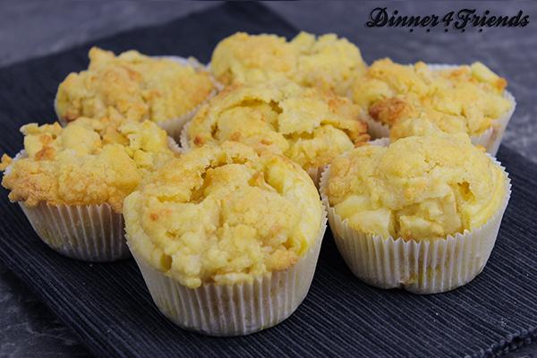 Birnen-Crumble-Muffins: Lecker, saftig und schnell zubereitet.