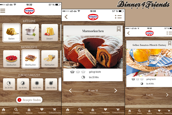 Nach zwei Updates bietet die Dr. Oetker-App sinnvolle und unterhaltsame Funktionen, aber noch nicht die die schönsten Fotos.