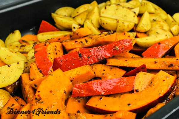 Krosse Kartoffel-Kürbisspalten