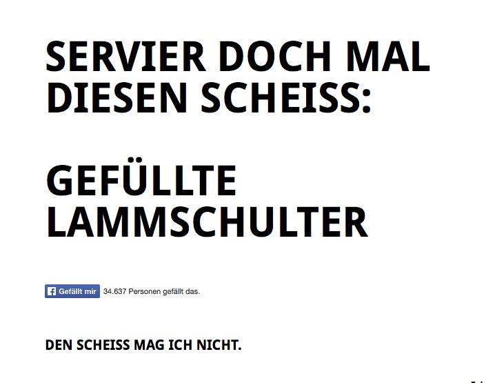 Entscheidungshilfe auf www.scheissewaskocheichheute.de